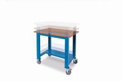 Kovové stoly výškově stavitelné- skladom