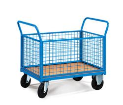 Plošinové vozíky s bočnicami