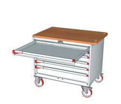 Pojazdné zásuvkové skrine 1100x752mm