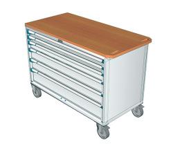 Pojazdné zásuvkové skrine 1508x752mm