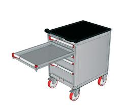 Pojazdné zásuvkové skrine 587x800mm