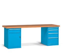 Pracovné stoly široké 2500 mm