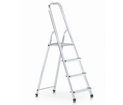 Praktický stupňový stojací rebrík, jednostranne schodný