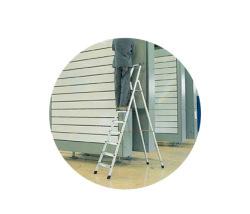 Stojace rebríky eloxované