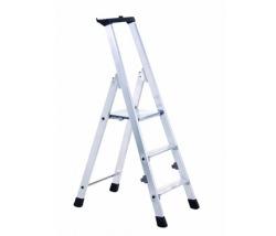 Stupňový stojací rebrík, jednostranne schodný s odkladacou miskou