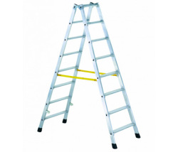 Stupňový stojací rebrík, obojstranne schodný