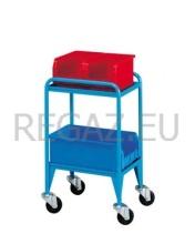 Vozík včetně dvou zásobníků velikosti 3 a jednoho zásobníku velikosti 4