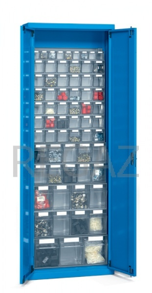 Kovová skříň s dveřmi, včetně praktiboxů