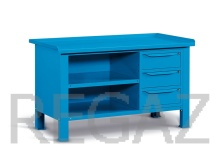 Oceľový stôl montovaný š.1507mm