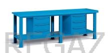 Ocelový stůl montovaný š. 2507mm