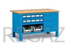 Oceľový stôl montovaný š. 1500mm