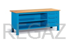 Oceľový stôl montovaný š. 2000mm
