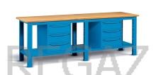 Ocelový stůl montovaný š. 2500 mm