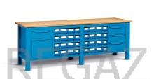 Oceľový stôl montovaný š. 2500 mm