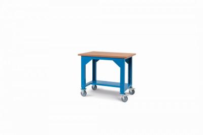 Ocelový stůl montovaný, výškově stavitelný š.1024mm, pojízdný