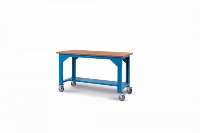 Ocelový stůl montovaný, výškově stavitelný  š.1500mm, pojízdný