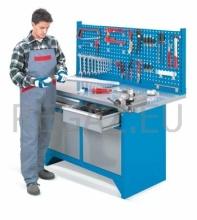 Pracovný stôl modulárny šírka 1500 mm so zadným panelom