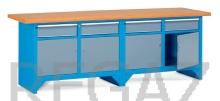 Pracovný stôl modulárny šírka 2500 mm