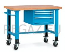 Pojazdný stôl univerzálny šírka 1300 mm