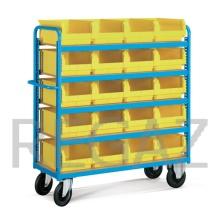 Vozík s prepravkami - kovové police