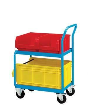 Vozík včetně dvou zásobníků velikosti 4 a jednoho zásobníku velikosti 5