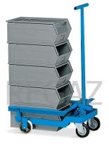 Vozík pre zdvíhanie a transport prepraviek veľkosti 4