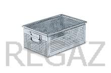 Kovový stohovací box Zeus perforovaný
