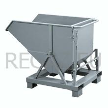 Kovová výklopná ohradová paleta s úchytom pre paletový vozík