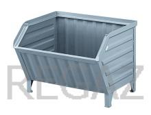 Kovový kontejner se zkoseným čelem