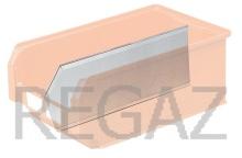 Pozdĺžna kovová prepážka pre stohovacie zásobníky