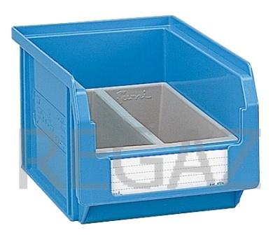 Dělící box pro stohovací zásobníky, se 2 buňkami
