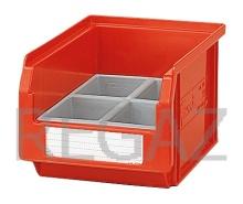 Deliaci box pre stohovacie zásobníky, so 4 bunkami