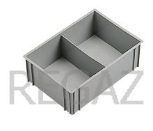 Deliaci box pre stohovacie prepravky série Athena, Thema, s 2 bunkami