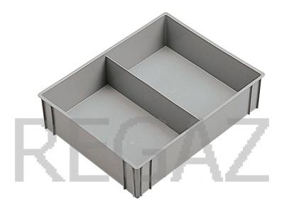 Dělící box pro stohovací boxy série Athena, Thema, se 2 buňkami