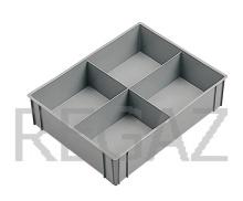 Deliaci box pre stohovacie prepravky série Athena, Thema, so 4 bunkami
