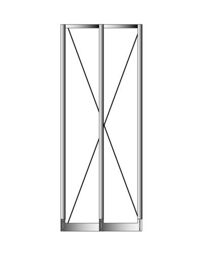 Dvojitý základní sloupec se stabilizačním křížením, výška 2010 mm