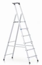 Stupňový stojací žebřík, jednostranně schůdný s odkládací miskou