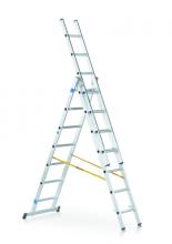 Viacúčelový rebrík 3-dielny
