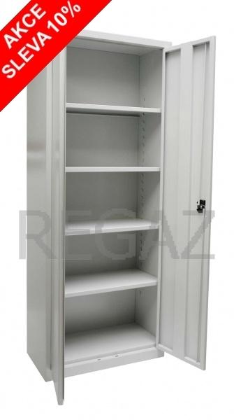Svařovaná spisová skříň s křídlovými dveřmi - akční cena