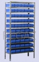 Policový regál M15 vrátane multiboxov FPK30540004 a FPK35540004